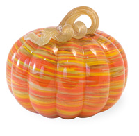 Swirls Glass Pumpkin - Short