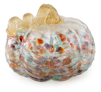 Large Mottled Glass Pumpkin