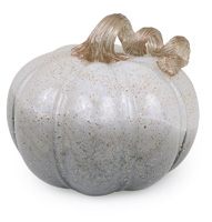 Large Twilight Grey Glass Pumpkin