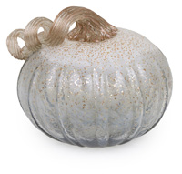 Small Twilight Grey Glass Pumpkin