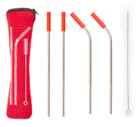 Red On the Go Straw Kit