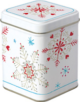 Winter Crystals White Red Tea Tin