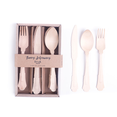 Eat Drink Host - Fancy Schmancy Birch Utensil Set