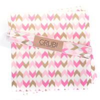 Eat Drink Host - Grub Paper Pink & Gold Chevron