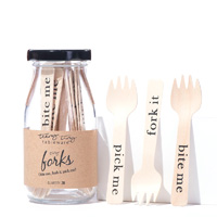 Eat Drink Host Bite Me Pick Me Fork It Tiny Appetizer Forks