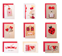 Handmade Valentine's Day Card Collection