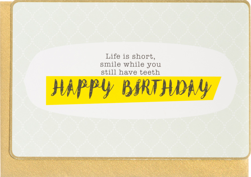 Enfant terrible life is short happy birthday card m4hsunfo