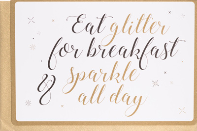 Enfant Terrible Eat Glitter Card