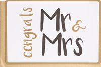 Enfant Terrible Congrats Mr & Mrs Card