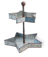 Americana - Rustic Metal Star Tiered Stand