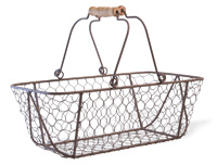 Chicken Wire Shopper Basket