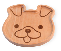 Bamboo Animals Dog Face Plate