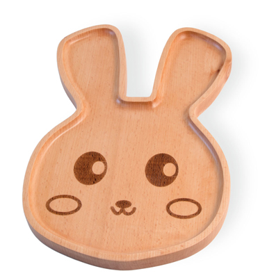 Bamboo Animals Bunny Face Plate