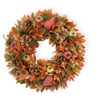 Pears Apples & Pinecones Wreath