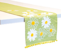 Lime Daisy Table Runner
