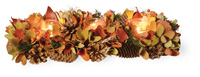 Autumn Splendor Pumpkin & Pinecones Tri-Tealight