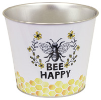 Round Pail Bee Happy