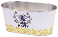 Oval Pail Bee Happy