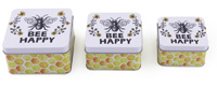 Nesting Tins   Bee Happy Set of 3