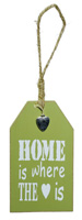 Wine Bottle Tag Home is Where Green