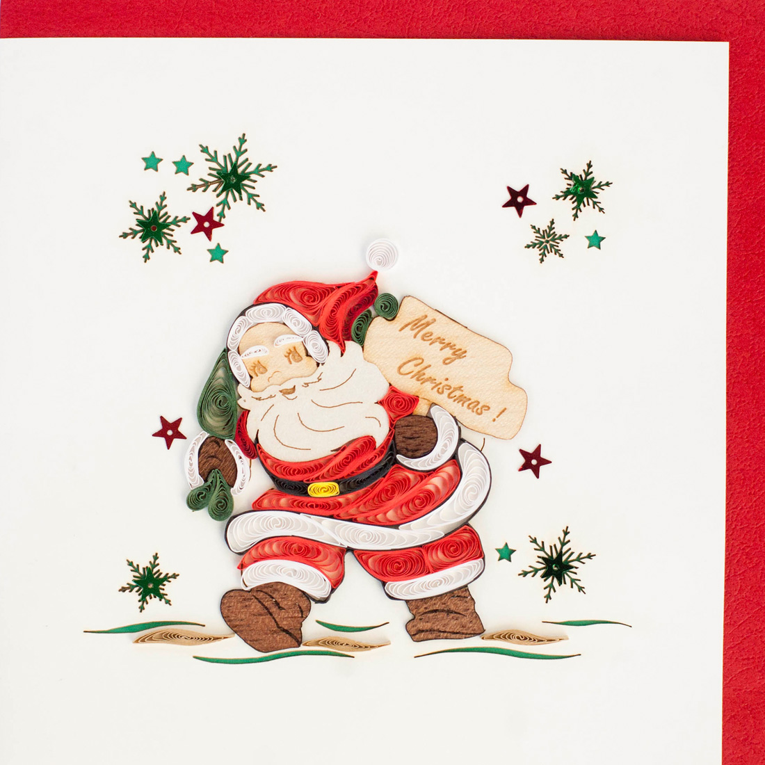 Quilled Card Santa Claus