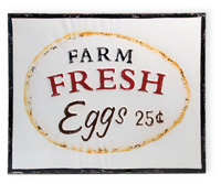 Farmhouse Style Farm Fresh Eggs Vintage Sign