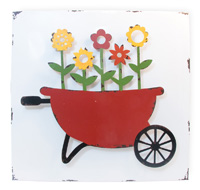 3D Garden Wheelbarrow Sign
