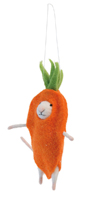 Carrot Mouse Ornament