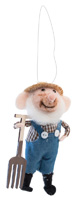 Farmhouse Style Farmer Frank Mouse Ornament