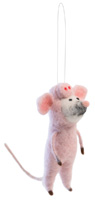 Farmhouse Style Perry the Pig Mouse Ornament