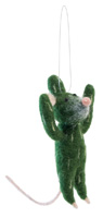 Carly the Cactus Mouse Ornament