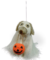 Fido the Trick or Treat Dog Ornament