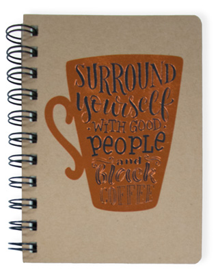 Black Coffee Wire Notebook Small