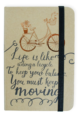 Bicycle Hard Kraft Journal Small