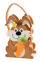 Brown Bunny Felt Basket