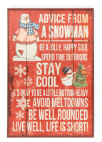 Advice From A Snowman Sign