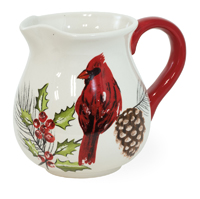 Yuletide Cardinal Pitcher