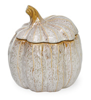 Autumn Days Pumpkin Lidded Jar Cream/Brown