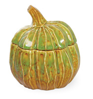 Autumn Days Pumpkin Lidded Jar Green/Brown