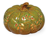 Autumn Days Pumpkin LED Green/Brown