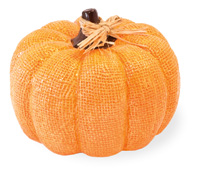 Orange Burlap Pumpkin