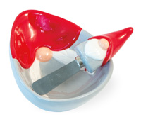Red Hat Gnome Bowl & Spreader Set