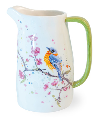Bird & Cherry Blossoms Pitcher