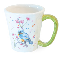 Mug Bird & Cherry Blossoms