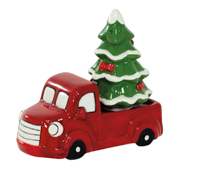 Red Truck & Xmas Tree Salt & Pepper Set