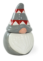 Gray Hat Gnome Jar