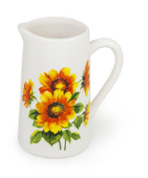 PITCHER COLOURFUL SUNFLOWERS