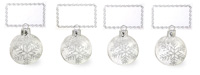 Silver Snowflakes Ornament Placecard Set