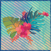 Hawaiian Hibiscus Lunch Napkin
