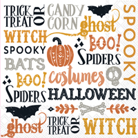 Rosanne Beck - Halloween Words Lunch Napkin